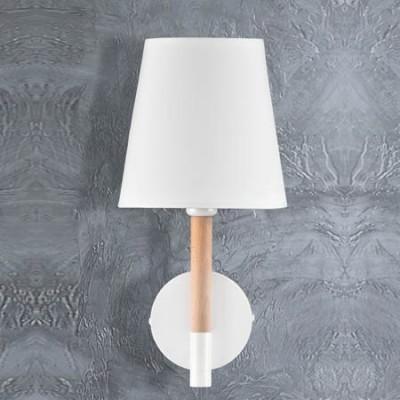 Lámpara de pared Nórdico en madera natural y blanco