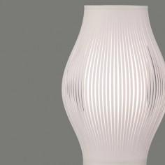 Lámpara sobremesa Murta pantalla con tiras blancas