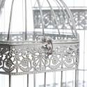 Jaulas vintage decorativas blanco rozado en metal