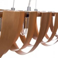 Lámpara techo moderna cobre metal cuatro luces