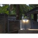 Lámpara baliza exterior LED Bu-Oh metal gris oscuro y opal