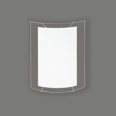 Lámpara aplique Akil cristal opal y transparente