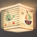 Lámpara infantil plafón Petit Marin cuadrada estilo marinero