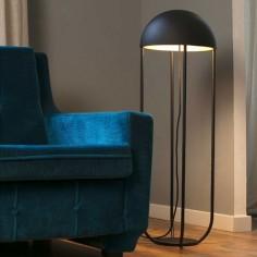 Pie de salón moderno Jellyfish LED metal negro y dorado