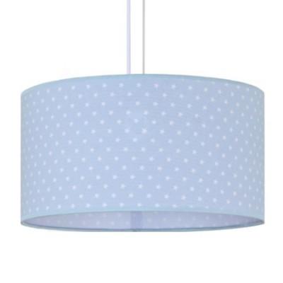 Lámpara colgante infantil Afrodita azul con estrellas blancas