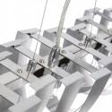 Lámpara moderna para techo metal plata mate cuatro luces