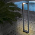 Baliza para exterior LED moderna Alp gris oscuro