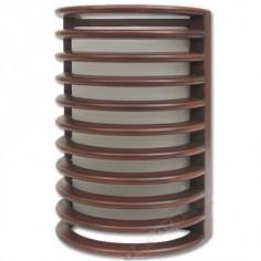 Aplique moderno para exterior Mirto en marrón con cristal opaco