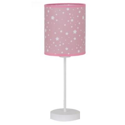 Sobremesa infantil Poseidón rosa con estrellas blancas