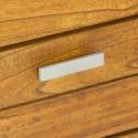 Cómoda Ohio madera acabado roble con cinco cajones