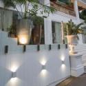 Aplique para exterior Ling LED metal blanco luz superior e inferior