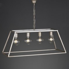 Lámpara techo Dorota metal plata envejecida con cuatro luces