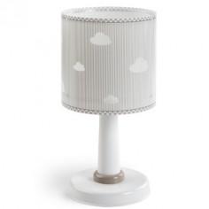 Lámpara mesa infantil Sweet Dreams en gris y blanco con nubes