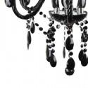 Lámpara Chandelier clásica color negro seis luces