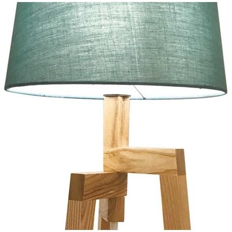 Comprar natural con textil Lámpara sobremesa madera pantalla 5L4A3Rj