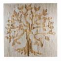 Cuadro decorativo vintage Árbol en madera tallada