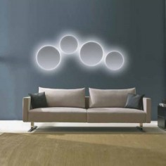 Aplique de pared Eclipsium LED regulable redondo blanco