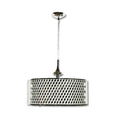 Colgante en plata brillo con detalles plateados
