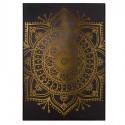 Cuadro decoración Mandala negro y dorado impresión y óleo