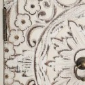 Consola entrada Oriente madera blanco rozado con tallado