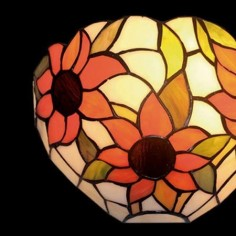 Aplique Tiffany para pared cristales mosaico flores