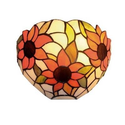 Aplique Tiffany para pared cristales mosaico flores