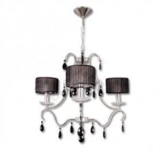 Lámpara pantallas color negro tela estilo moderno