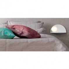 Aplique pared moderno LED Candy metal blanco luz bola blanca