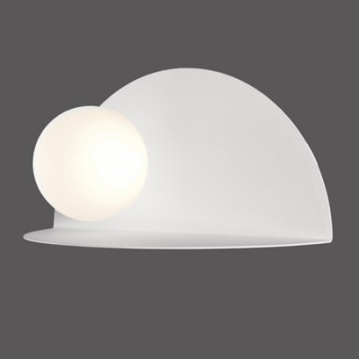 Aplique pared moderno LED Candy metal blanco luz bola blanca