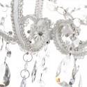 Lámpara clásica transparente y blanco brillo con lágrimas colgantes