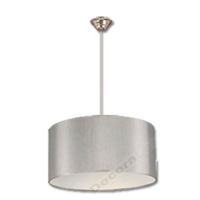 Lámpara colgante estilo moderno luz color plata