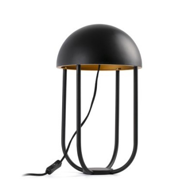 Lámpara de mesa LED Jellyfish metal negro y oro