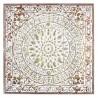 Mural decoración metal Mandala rozado blanco oro y cobre