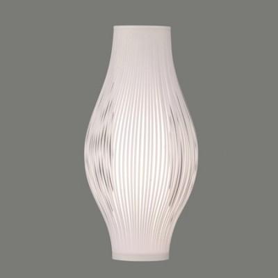 Lámpara de sobremesa Murta con tiras color blanco