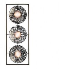 Aplique decoración pared con círculos en metal