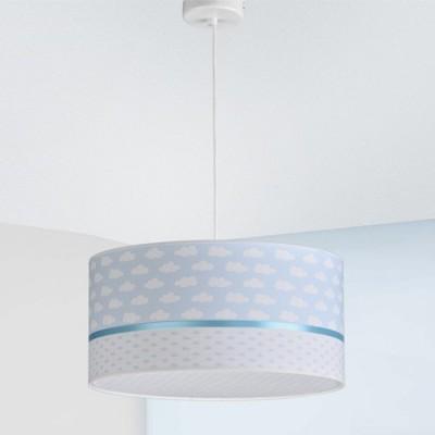 Lámpara infantil colgante Nubes en blanco y azul 40cm