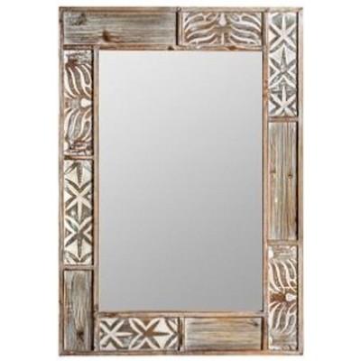 Espejo colección Bali en madera tallada