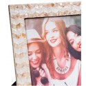 Portafotos fabricado en capiz color beige en dos tonos