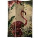 Biombo 3 paneles con dibujo flamencos