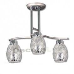 Lámpara moderna cromo cristales tiffany espejo