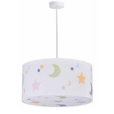 Lampara de techo infantil con estrellas y lunas