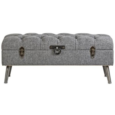 Banqueta baúl color gris