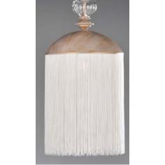 Colgante palenque con flecos color blanco