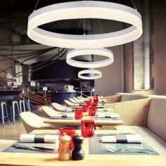 Led colgante circular en color blanco