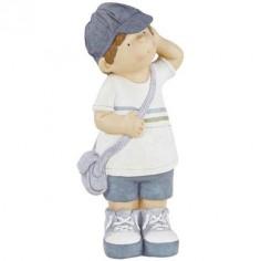 Figura decorativa niño en tonos azules