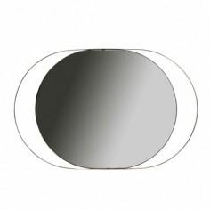 Espejo ovalado con estructura dorada
