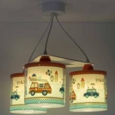 Colgante infantil 3 luces colección police