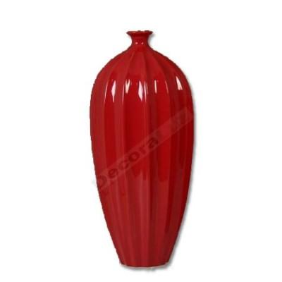 Jarrón cerámica color rojo intenso estilo moderno