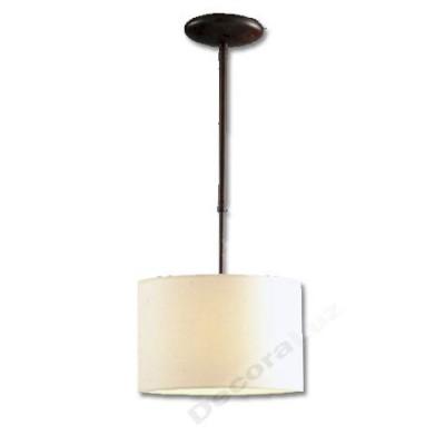 Lámpara estilo clásico colgante Arco en crema y marrón óxido