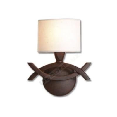 Lámpara aplique estilo clásico color marrón óxido crema